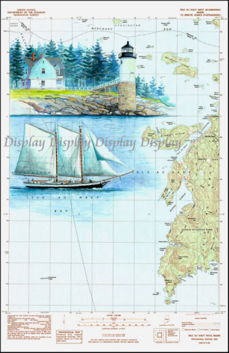 Welcome To FourWinds Lighthouse Map Paintings
